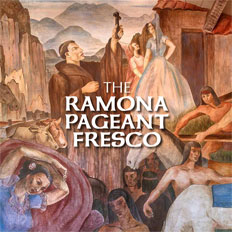 Sasse Museum of Art: The Ramona Pageant Fresco by Milford Zornes